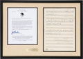 "Music Memorabilia:Sheet Music, Frank Sinatra Personally Owned Copy of ""Blueberry Hill"" SheetMusic. . ..."