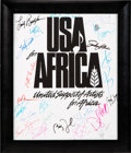 "Music Memorabilia:Posters, USA for Africa/""We Are the World"" Signed Poster (1985). . ..."