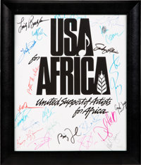 "USA for Africa/""We Are the World"" Signed Poster (1985)"