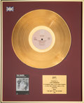 Music Memorabilia:Awards, The Doors Best Of BPI Gold Award Presented To and Signed by John Densmore (Elektra, 1983). . ...