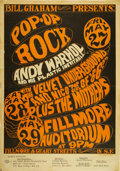 Music Memorabilia:Posters, Andy Warhol/Velvet Underground/Mothers of Invention BG-8 Fillmore Concert Poster. . ...