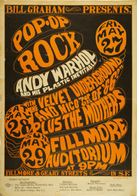 Andy Warhol/Velvet Underground/Mothers of Invention BG-8 Fillmore Concert Poster