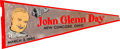 Political:Textile Display (1896-present), John Glenn: 1962-Dated Fabric Pennant.. ...