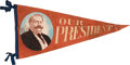 Political:Textile Display (1896-present), William Howard Taft: Colorful Portrait Felt Pennant.. ...