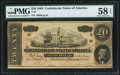Confederate Notes:1864 Issues, T67 $20 1864 PF-3 Cr. 505 PMG Choice About Unc 58 EPQ.. ...