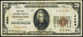 National Bank Notes:Kansas, Herington, KS - $20 1929 Ty. 1 The First NB Ch. # 4058 Very Fine.. ...