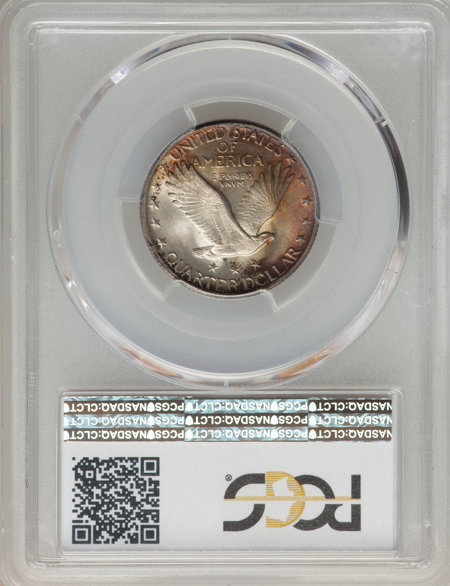 1917 25C Type Two, FH CAC 66 PCGS