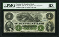 World Currency, Canada St. Stephen, NB- St. Stephens Bank $1 1.2.1886 Ch.# 675-20-04-06 PMG Choice Uncirculated 63.. ...