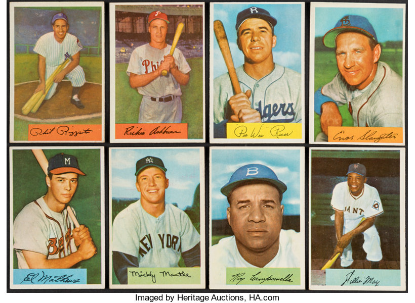 1954 Bowman Baseball Complete Set 224 Baseball Cards Sets