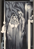 Original Comic Art:Illustrations, Stephen Fabian (American, b. 1930). The Children of the State, part III, Galaxy Science Fiction interior illustration, N...