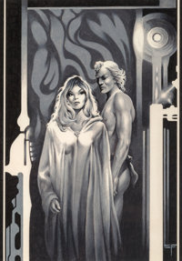 Stephen Fabian (American, b. 1930) The Children of the State, part III, Galaxy Science Fiction interior illustration, N...