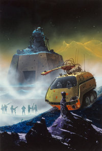 Chris Foss (American, b. 1946) Total Eclipse paperback cover, 1975 Acrylic on board 13 x 8-3/4 in. Initialed lower r