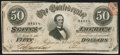 Confederate Notes:1864 Issues, T66 $50 1864 PF-12 Cr. 501 About Uncirculated.. ...