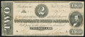 Confederate Notes:1864 Issues, T70 $2 1864 PF-5 Cr. 567 Very Fine.. ...