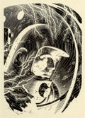 Original Comic Art:Illustrations, Virgil Finlay (American, 1914-1971). Within the VenusianAtmosphere, The Complete Book of Space Travel interior ...