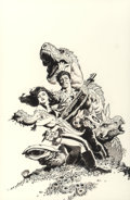 Original Comic Art:Illustrations, Mark Schultz (American, b. 1955). Portfolio - The Complete Various Drawings book cover, 2015. Ink on paper. 17-1/2 x 11 ...
