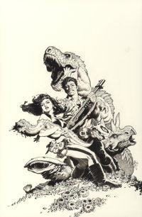 Mark Schultz (American, b. 1955) Portfolio - The Complete Various Drawings book cover, 2015 Ink on paper 17-1/2 x 11