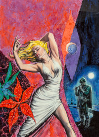 Edmund Emshwiller (American, 1925-1990) Twelve Months and a Day, Fantastic Universe cover, January 1960 Acrylic on boa...
