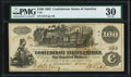 Confederate Notes:1862 Issues, T39 $100 1862 PF-5 Cr. 291 PMG Very Fine 30.. ...