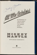 Autographs:Others, Mickey Mantle All My Octobers