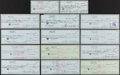 Autographs:Checks, Sam Snead Signed Check Lot of 14 Made Out to Family Members....