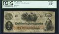 Confederate Notes:1862 Issues, T41 $100 1862 PF-11 Cr. 319A PCGS Very Fine 30.. ...