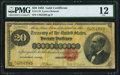 Large Size:Gold Certificates, Fr. 1178 $20 1882 Gold Certificate PMG Fine 12.. ...