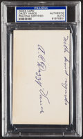 "Autographs:Index Cards, A.C. ""Dazzy"" Vance Signed Index Card, PSA/DNA Authentic...."