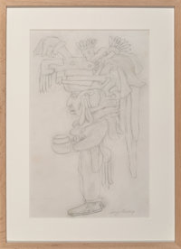 "Diego Rivera (1886-1957) Study for ""Visions of the History of Mexico"" mural, 1930 Pencil on paper"