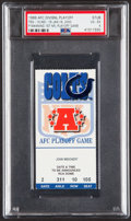 Football Collectibles:Tickets, 1999 AFC Divisional Playoff, Titans vs. Colts Ticket Stub - Peyton Manning's Playoff Debut, PSA VG-EX 4....