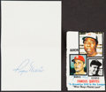 Autographs:Index Cards, Roger Maris Signed Cut Lot of 2....
