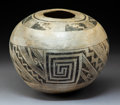 American Indian Art:Pottery, An Anasazi Black-On-White Jar. c. 1100 AD...