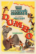 "Movie Posters:Animation, Dumbo (RKO, 1941). Very Fine- on Linen. One Sheet (27"" X 41"") Style B.. ..."