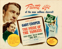 """The Pride of the Yankees (RKO, R-1949). Folded, Fine/Very Fine. Half Sheet (22"""" X 28"""") Style A"""