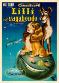 "Movie Posters:Animation, Lady and the Tramp (Dear Film, 1955). Fine+ on Linen. Italian 2 - Fogli (39.5"" X 55"").. ..."
