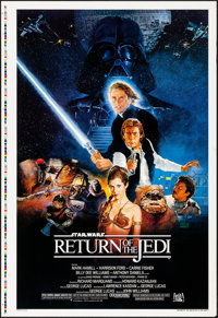 "Return of the Jedi (20th Century Fox, 1983). Rolled, Very Fine+. Dual-Sided Printer's Proof One Sheet (28"" X 41&quo..."