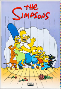 """The Simpsons (20th Century Fox, 1997). Rolled, Very Fine/Near Mint. Printers Proof Television One Sheet (28"""" X 41&q..."""
