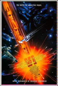 "Star Trek VI: The Undiscovered Country (Paramount, 1991). Rolled, Near Mint. Printer's Proof One Sheet (28"" X 41&qu..."