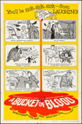 "Movie Posters:Horror, A Bucket of Blood & Other Lot (American International, 1959).Folded, Very Fine-. One Sheet (27"" X 41"") & Uncut Pressbook(1... (Total: 2 Items)"