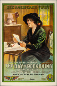 "The Day of Reckoning (Mutual, 1915). Fine on Linen. One Sheet (27"" X 41""). Drama"