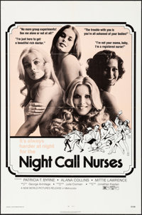 "Night Call Nurses & Other Lot (New World, 1972). Folded, Very Fine-. One Sheets (2) (27"" X 41""). Sexpl..."