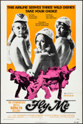 """Movie Posters:Sexploitation, Fly Me & Other Lot (International Film Distributors, 1973). Folded, Very Fine-. One Sheets (2) (27"""" X 41"""" & 28"""" X 42""""). Sexp... (Total: 2 Items)"""