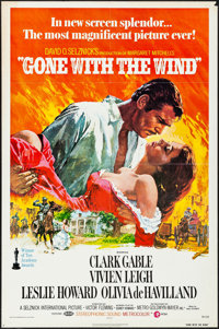 "Gone with the Wind (MGM, R-1974). Folded, Fine/Very Fine. One Sheet (27"" X 41"") Howard Terpning Artwork. Acade..."