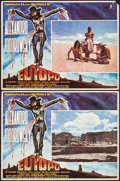 """Movie Posters:Western, El Topo (Panic S.A., 1971). Fine/Very Fine. Mexican Lobby Cards (2) (12.25"""" X 16.25""""). Western.. ..."""