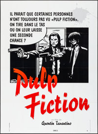 "Pulp Fiction (Bac Films, 1994). Folded, Very Fine-. French Grande (45.5"" X 62"") Second Chance Style, Bittler A..."