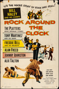 """Rock Around the Clock (Columbia, 1956). Folded, Fine/Very Fine. One Sheet (27"""" X 41""""). Rock and Roll"""