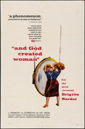 "Movie Posters:Foreign, And God Created Woman (Kingsley International, 1957). Folded,Fine/Very Fine. One Sheet (27"" X 41""). Foreign.. ..."