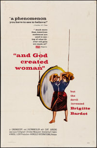 """And God Created Woman (Kingsley International, 1957). Folded, Fine/Very Fine. One Sheet (27"""" X 41""""). Foreign..."""