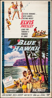 "Blue Hawaii (Paramount, 1961). Rolled, Fine/Very Fine. Three Sheet (41"" X 78.5""). Elvis Presley"