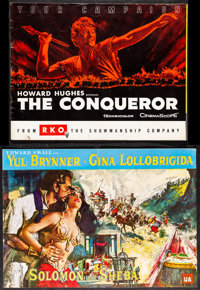 """The Conqueror & Other Lot (Fox, 1917). Very Fine-. Uncut Pressbooks (2) (Multiple Pages, 14.25"""" X 18.25&quo..."""